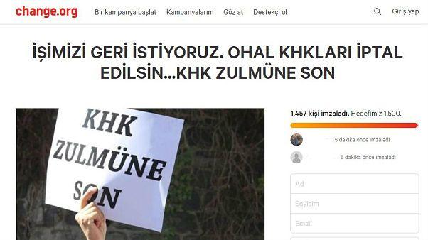 KHK ile ihraç edilen memurlardan 'İşimizi Geri İstiyoruz' imza kampanyası