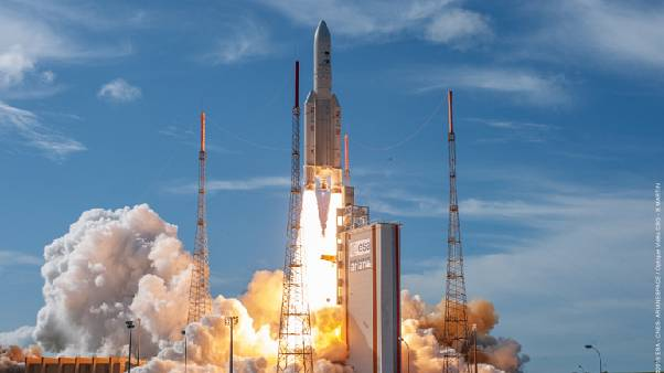 The EDRS-C is launched from Europe's Space Port in French Guiana