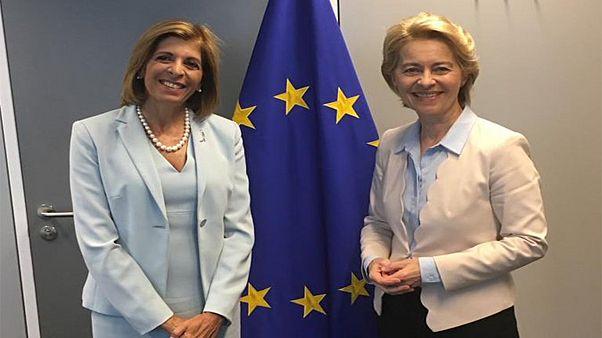Συνάντηση Στέλλας Κυριακίδου με την Ούρσουλα φον ντερ Λάιεν