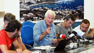 US actor Richard Gere and Italy's Matteo Salvini clash over migrant ship