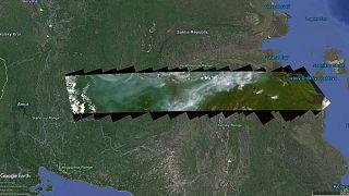 Les incendies en Sibérie vus du ciel
