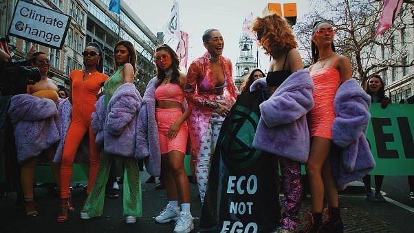 Extinction Rebellion Swarm at February's London Fashion Week
