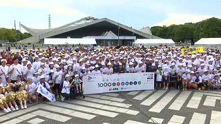 طوكيو تستقبل عدائي سباق الألف كيلومتر الذي خصص لذكرى ضحايا زلزال 2011