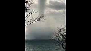 Gewaltige Wasserhose fegt über russische Schwarzmeerküste
