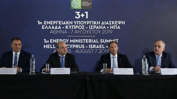 Doğu Akdeniz krizi: Kıbrıs, Yunanistan, ABD ve İsrail'den enerji işbirliğini genişletme kararı