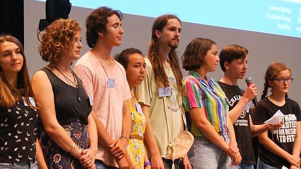 جنبش جهانی محیط زیستی با حضور دانشآموز ایرانی در لوزان سوئیس