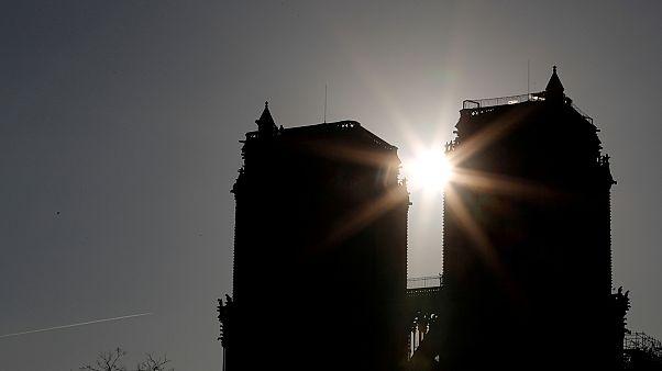 A Notre Dame két nappal a tűzvész után