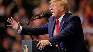 الرئيس الأمريكي دونالد ترامب يتحدث في ولاية أوهايو في الأول من أغسطس آب 2019