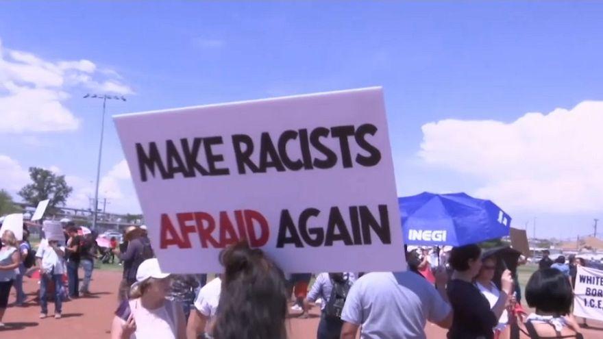 سفر ترامپ به دیتون و الپاسو پس از کشتار اخیر؛ معترضان تجمع کردند