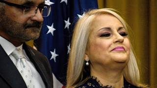Wanda Vázquez durante su nombramiento