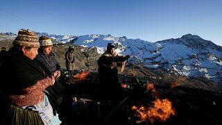 Celebraciones en honor a la Pachamama (la Tierra) en Bolivia, el 1 de agosto