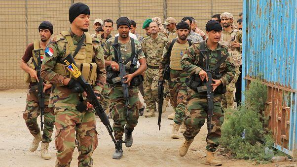 لقطة أرشيفية للقوات الموالية لحكومة عدن التي تقاتل الحوثيين