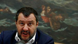 ماتيو سالفيني وزير الداخلية الإيطالية ورئيس حزب الرابطة اليميني المتطرف