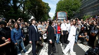 50th anniversary of the iconic Beatles photograph on Abbey Road in London