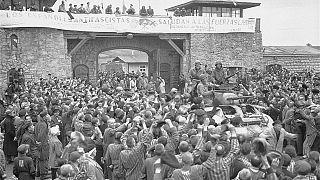 Liberación del campo de Mauthausen, 6 de mayo de 1945.