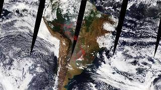 La nube de humo llega hasta Argentina
