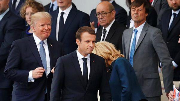 امانوئل ماکرون و دونالد ترامپ