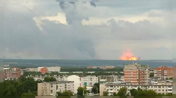 Explosions at an ammunition plant in the Achinsk Area of Russia on August 5