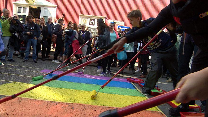 ویدئو؛ بیستمین رژۀ همجنسگرایان در ایسلند