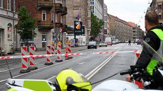 Il luogo dell'esplosione, a Copenaghen.