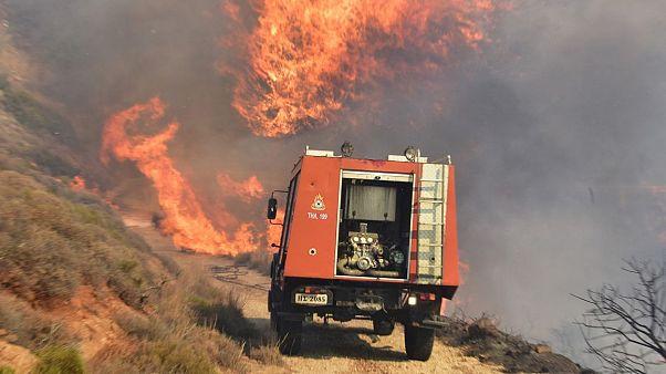 Υψηλός ο κίνδυνος πυρκαγιάς την Κυριακή - Σε ύφεση όλα τα μέτωπα