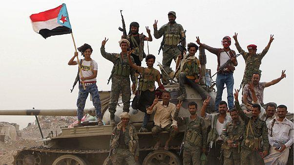 مجموعة من قوات الانفصاليين في عدن