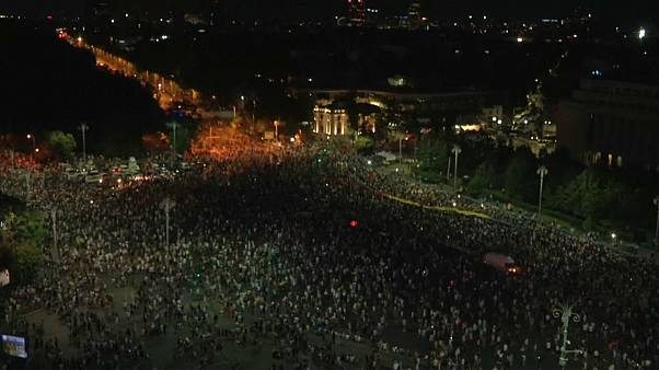 Manifestation contre le gouvernement à Bucarest
