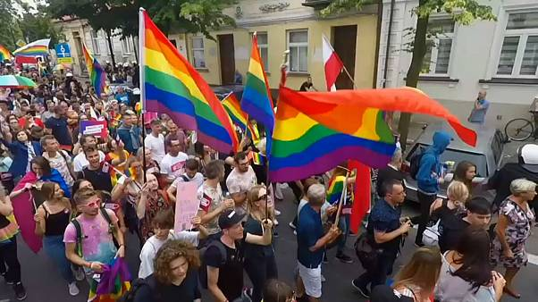 La ciudad polaca de Plock celebra por primera vez una marcha LGTBI