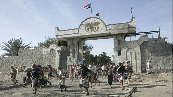 مدخل القصر الرئاسي في عدن باليمن