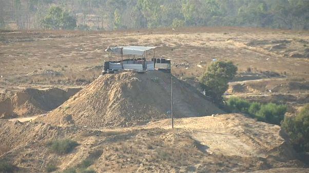 السياج الأمني في قطاع غزة الشمالي