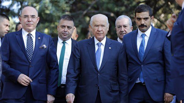MHP Genel Başkanı Devlet Bahçeli, Bayram Namazını Ankara Gazi Merkez Camisinde kıldı.