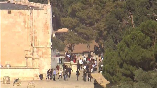 Palestino abatido junto a la valla de la Franja