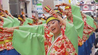 Colourful Yosakoi dance festival held in Kochi