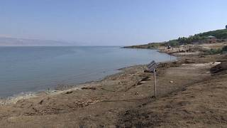 شاطئ البحر الميت في عين جدي