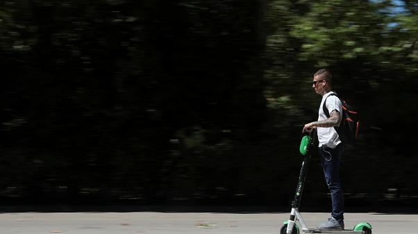 An archive photo of an e-scooter in Spain