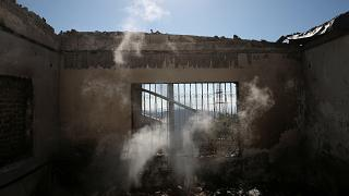 A görög erdőtűz átterjedt Athén egyik külvárosára