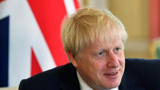Britain's Prime Minister Boris Johnson on August 7, 2019.