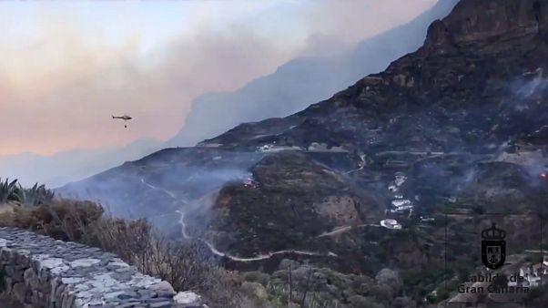 L'incendie sur l'île de Grande Canarie continue