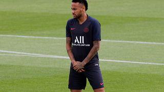 Neymar pendant un entraintement REUTERS/Philippe Wojazer