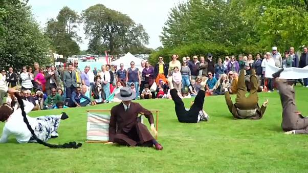 'Chap Olympiad' celebrates British eccentricities with umbrella jousting and tea pursuit