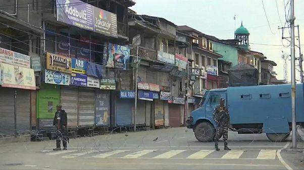 Les rues désertes de Srinagar, dans le Jammu-et-Cachemire, le 12 août 2019