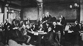 The signing of the first Geneva Convention in 1846