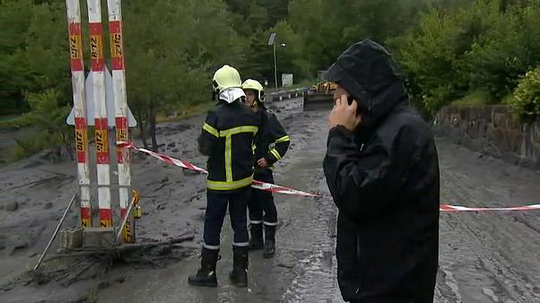 Two people missing after violent storm causes mudslide in Switzerland
