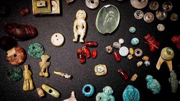 Some of the finds in the House of the Garden in Pompeii