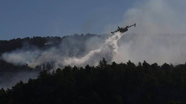 EU sends help to Greece as firefighters battle wildfire near Athens