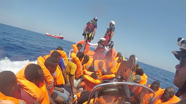 More than 500 rescued migrants on two NGO ships remain stranded