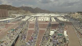 Final day of pilgrimage with the stoning of the devil for millions at Saudi Hajj
