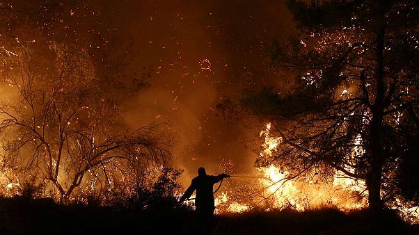 گسترش ابعاد آتشسوزی جنگلهای جزیره اِویا