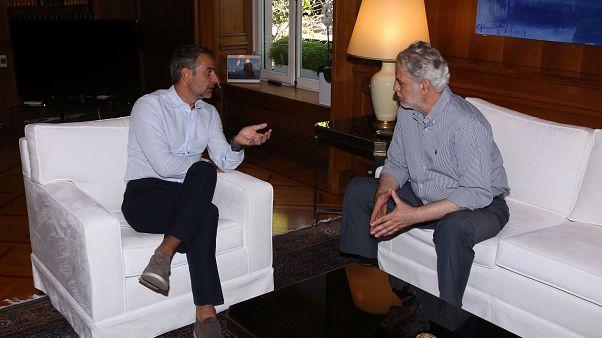 Ο Κυριάκος Μητσοτάκης με τον Ευρωπαίο Επίτροπο για θέματα Ανθρωπιστικής Βοήθειας Χρήστο Στυλιανίδη