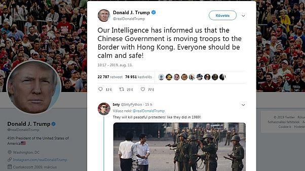 Trump üzenete